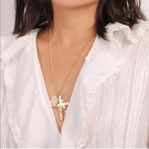 NEW Virgin Mary Gold Plated Pendent Necklace